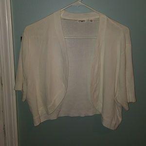 White crop jacket